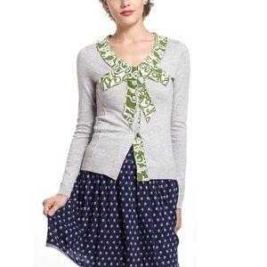 MOTH | Bow Intarsia Cardigan Sweater Feminine